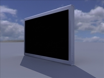 black computer monitor with stand 3d model ma mb obj 82757