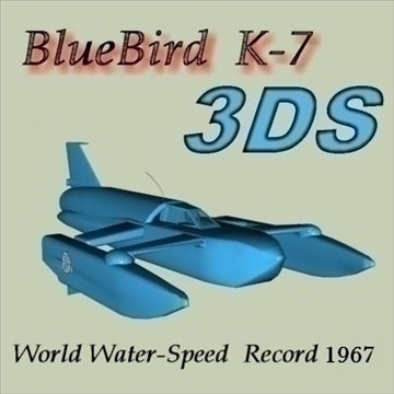 Bluebird k-7 3d líkan 3ds 80656