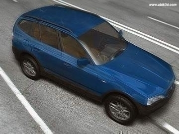 bmw x3 3d model 3ds dvokomponentni