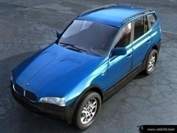 bmw x3 3d model 3ds lwo 77955