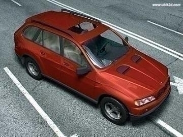 bmw x5 3d model 3ds dvokomponentni