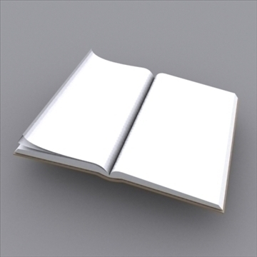 book open 3d model 3ds max obj 97983