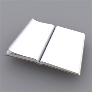 kitab açıq 3d model 3ds max obj 97983