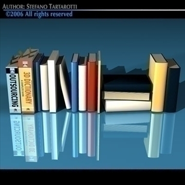 books new 3d model 3ds dxf c4d obj 81326