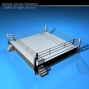 boxing ring 3d model 3ds dxf c4d obj 81756