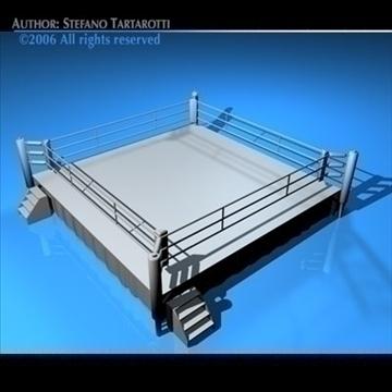 boxing ring 3d model 3ds dxf c4d obj 81758