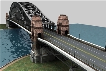 bridge scene 3d model 3ds c4d texture 86854