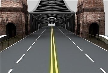 bridge scene 3d model 3ds c4d texture 86855
