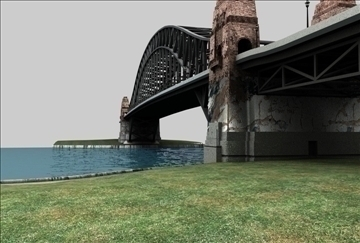 bridge scene 3d model 3ds c4d texture 86856