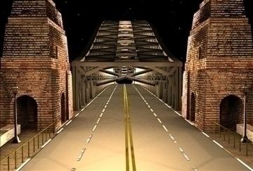 bridge scene 3d model 3ds c4d texture 86858