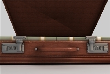 briefcase of money 3d model 3ds c4d texture 109261