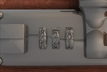briefcase of money 3d model 3ds c4d texture 109262