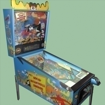 bullwinkle pinball machine 3d model max 95925