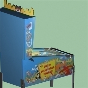 bullwinkle pinball machine 3d model max 95929