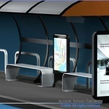 bus stop collection 3d model 3ds dxf c4d obj 77654