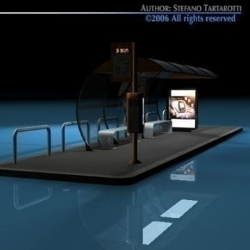 bus stop1 3d model 3ds dxf c4d obj 77624