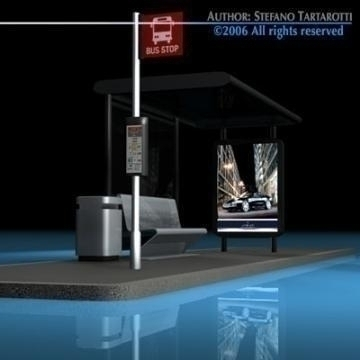 bus stop2 3d model 3ds dxf c4d obj 77631