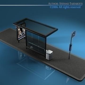 bus stop2 3d model 3ds dxf c4d obj 77633