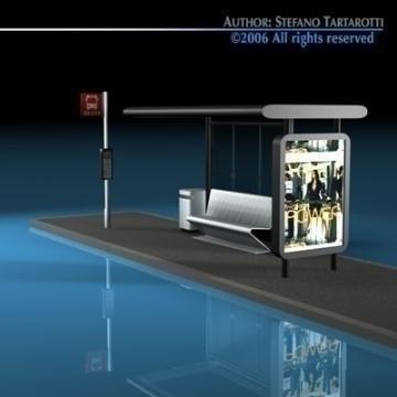 bus stop2 3d model 3ds dxf c4d obj 77636