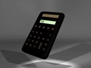 calculator 1 3d model 3ds dxf lwo 81090