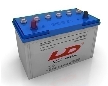 car battery 3d model 3ds max obj 111057