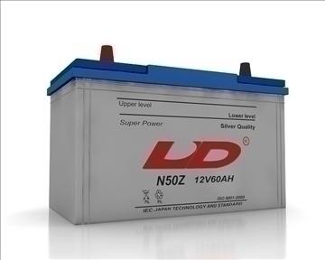 car battery 3d model 3ds max obj 111058