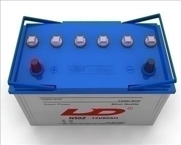 car battery 3d model 3ds max obj 111061
