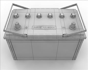 car battery 3d model 3ds max obj 111064