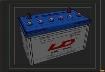 car battery 3d model 3ds max obj 111066