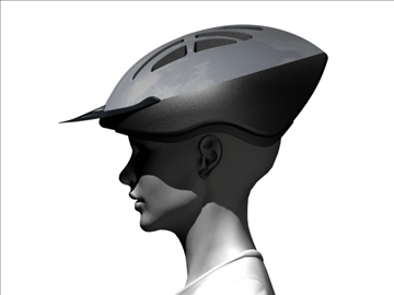 casco ciclista 3d μοντέλο 3ds max 96331