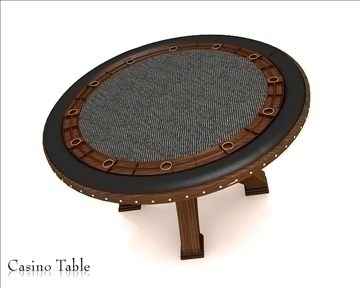 casino table 3d model 3ds max obj 111817