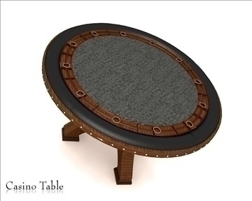 casino table 3d model 3ds max obj 111818