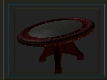 casino table 3d model 3ds max obj 111821