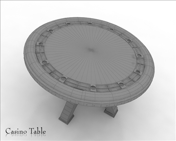 casino table 3d model 3ds max obj 111824