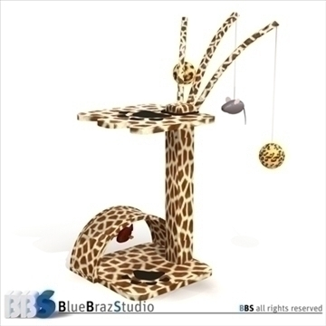 cat tree 3d modelo 3ds dxf c4d obj 111574