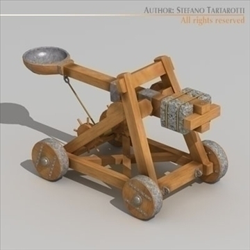 model 3d catapult 3ds dxf c4d obj 106219