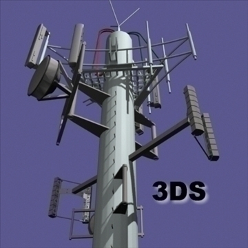 cell phone towers set of 5 3d model 3ds 96032