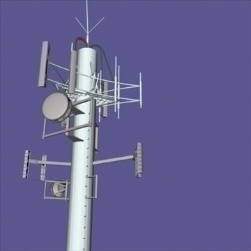 cell phone towers set of 5 3d model 3ds 96033