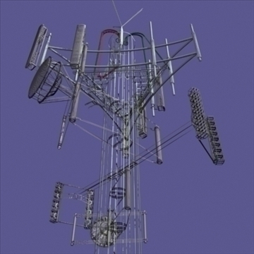 cell phone towers set of 5 3d model 3ds 96034