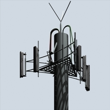 cell phone towers set of 5 3d model 3ds 96036