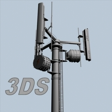 cell phone towers set of 5 3d model 3ds 96037