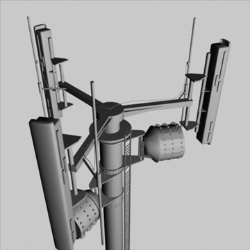cell phone towers set of 5 3d model 3ds 96038