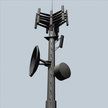cell phone towers set of 5 3d model 3ds 96040