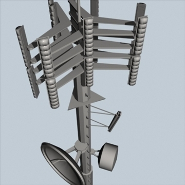 cell phone towers set of 5 3d model 3ds 96041