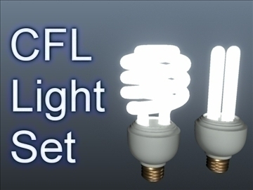 cfl light set 001 3d model 3ds max ma mb obj 102289