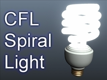 cfl spiral light 001 3d modelo 3ds max ma mb XJUMX