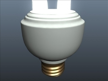 cfl spiral light 001 3d model 3ds max ma mb obj 102300