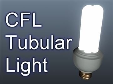 cfl tubular light 001 3d model 3ds max ma mb obj 102307