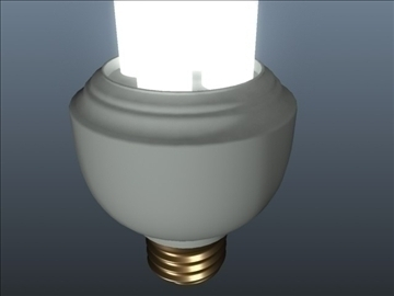 cfl tubular light 001 3d model 3ds max ma mb obj 102308