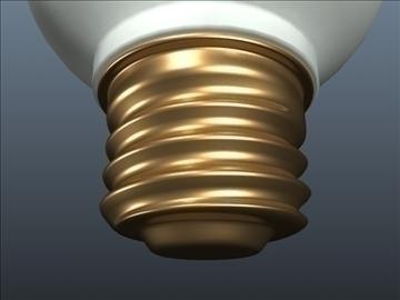 cfl tubular light 001 3d model 3ds max ma mb obj 102309